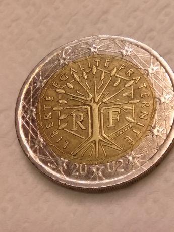 Moeda de 2€ França com vários defeitos
