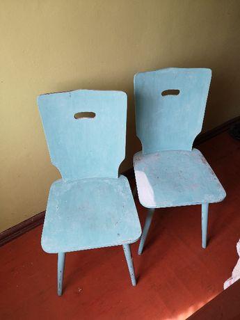Krzesło drewniane do renowacji rustykalne 2 sztuki