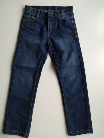 Spodnie jeansy chłopięce 128