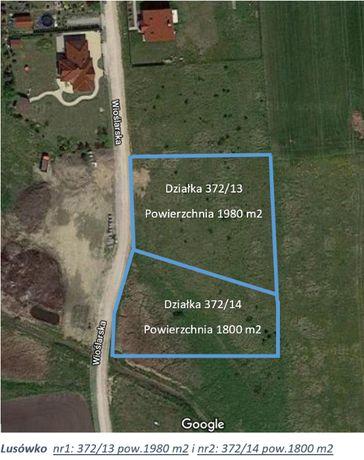Działka budowlana w Lusówku gm.Tarnowo Podgórne - 1830 m2