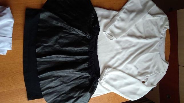 Bluzka spódniczka + koszula gratis