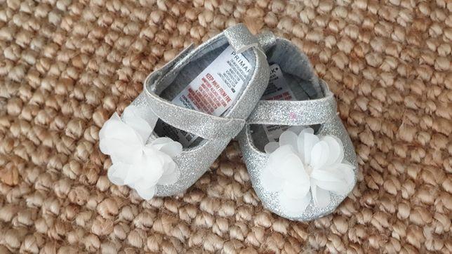 Buciki Niechodki balerinki Niemowlęce Primark 10 cm