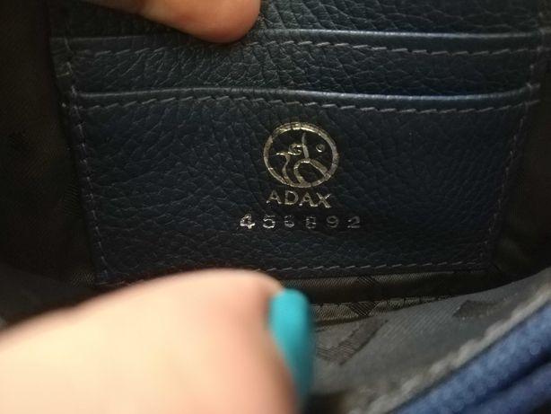 Skórzany portfel Adax! Stan bardzo dobry