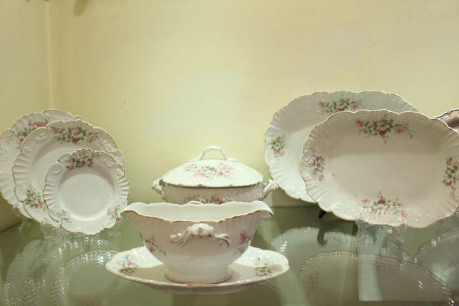 Serviço de Jantar Porcelana Vista Alegre Floral 1881 completo 80 peças
