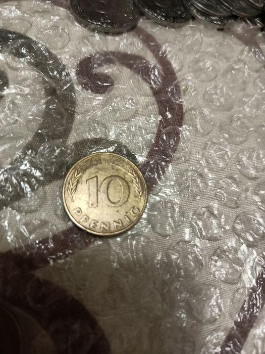 Продам германскую монету 10 пфенниг 1976 г Днепр - изображение 1