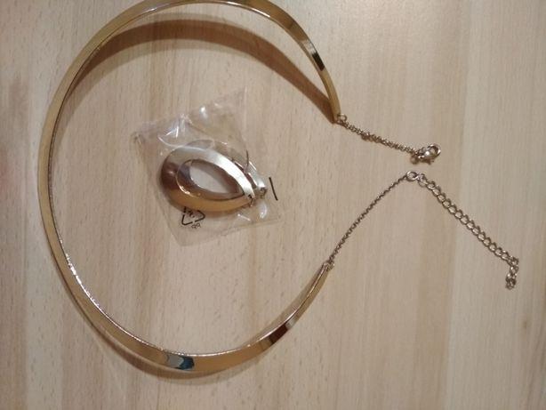 Komplet biżuterii w kolorze złotym