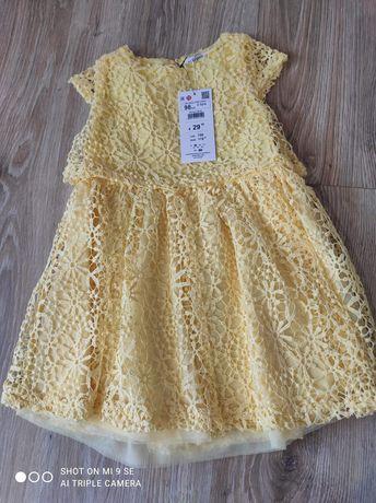 Nowa sukienka Reserved koronkowa roz 98