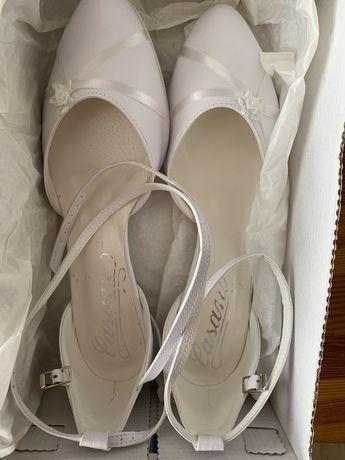Nowe Białe buty ślubne rozmiar 39