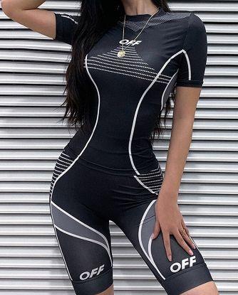 Damski strój rowerowy, fitness,trening sportowy – dwuczęściowy komplet