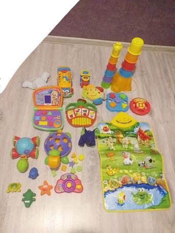 Zestaw zabawek niemowlęcych dziecięcych Fisher Price i inne