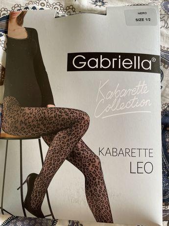 Rajstopy kabaretki panterka gabriella rozmiar 1/2 czarne