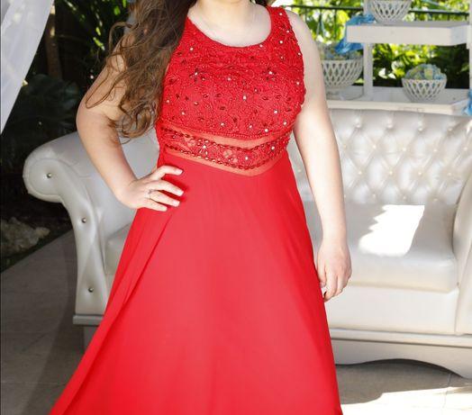 Vestido de cerimónia vermelho