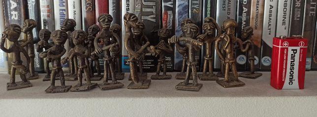 Figurki metalowe Plemie afrykanskie