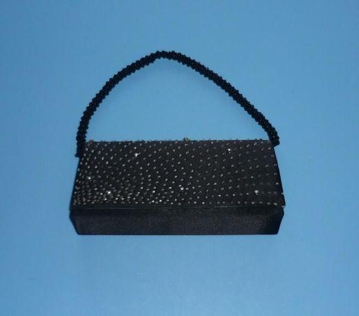Czarna torebka wizytowa - wesele, sylwester, studniówka