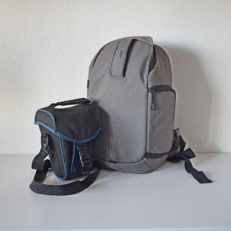 Mochila + bolsa para máquina fotográfica