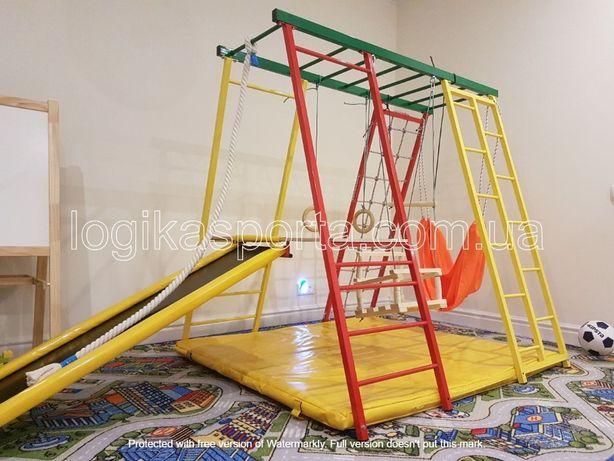 Детский спортивный комплекс для двора и дома, качели, горка, площадка