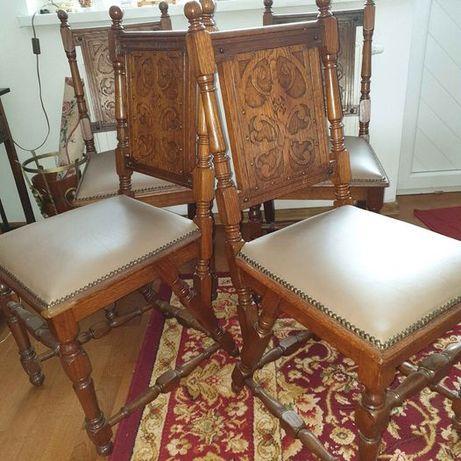 4 PIĘKNE eklektyczne krzesła