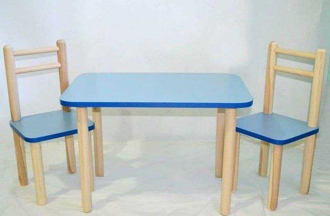 Стол и стул детский цвет синий .2-6 лет.Для детей мебель.Выбор цвета