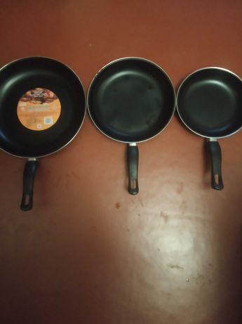 Набор сковородок антипригарных 3шт Stenson МН-0116