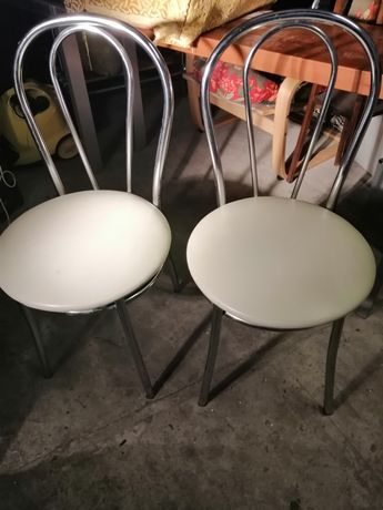 2 krzesła chrom ladne