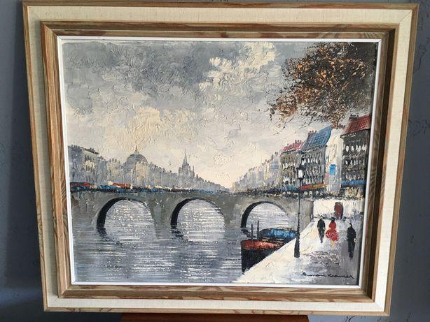 Simon Kramer obraz olej Paryż
