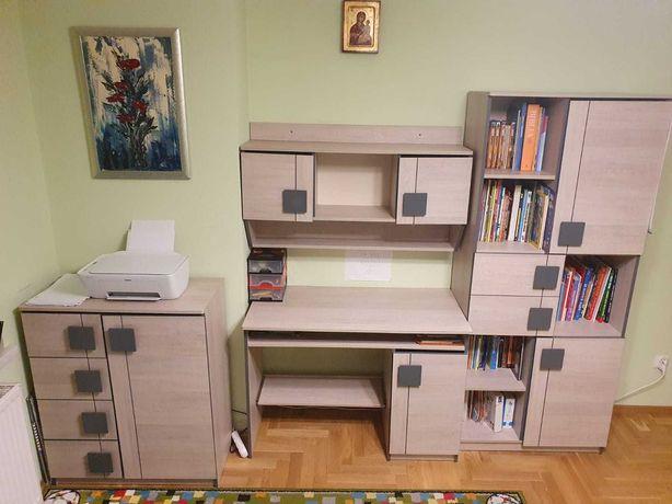 Nowoczesne meble młodzieżowe- regal, szafka, biurko, nadstawka