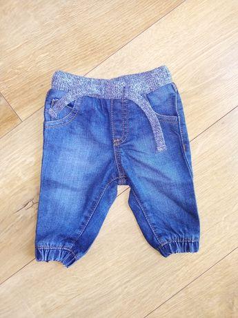 Spodnie jeansy, joggersy, NEXT, rozm. 62
