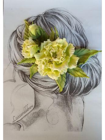 Цветы из ткани ручной работы