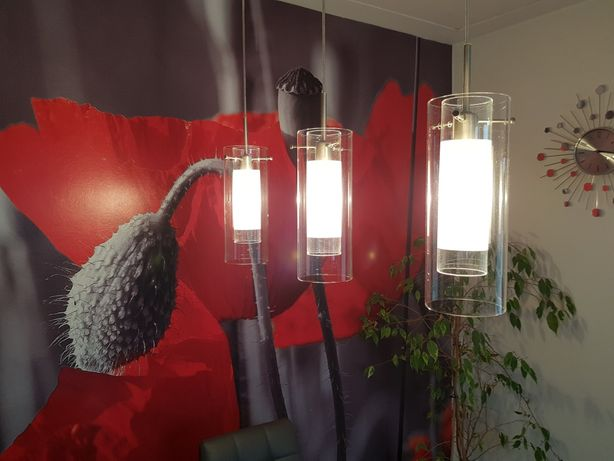 Lampy 2 szt komplet szkło,stal nierdzewna Kuchnia Salon Jadalnia