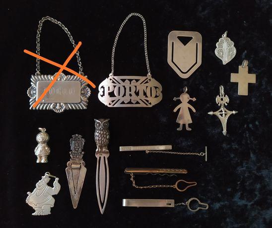 Várias peças de prata