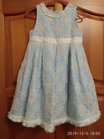 Новогоднее платье снежинка на утренник Mothercare рост 110-116 и обруч