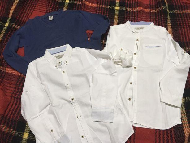 Lote 2 camisas classicas zara e 1 pullover zyppy tam7/8