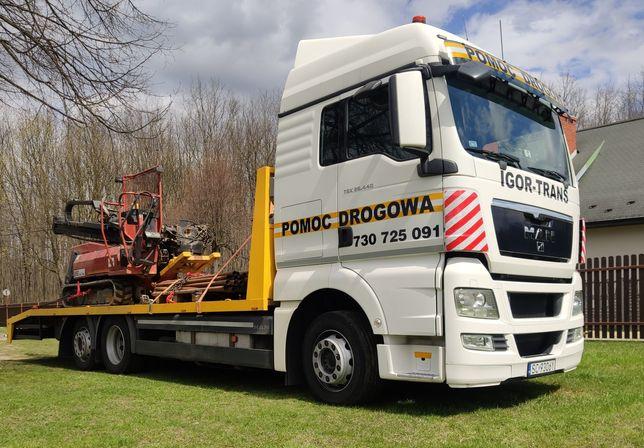 Laweta transport maszyn budowlanych ciągników  15 ton pomoc drogowa