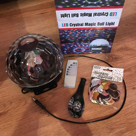 Świecąca kula dyskotekowa MP3 pilot LED Crystal magic ball light