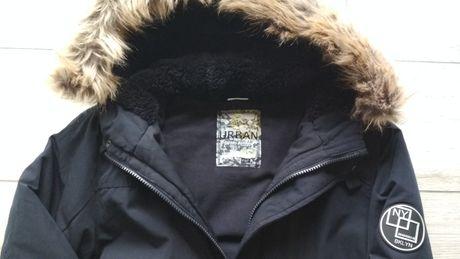 Kurtka młodzieżowa FF 164 zimowa parka granatowa chłopiec 158 idealna