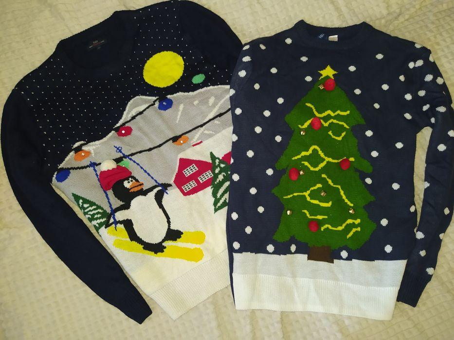 Family look, новогодний свитер пейзаж, ёлка XS,M Запорожье - изображение 1