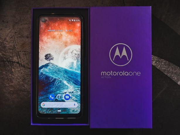 Motorola One Action 4/128 GB - gwarancja do grudnia 2021