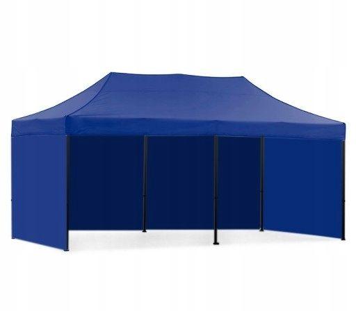 namiot pawilon 3X6 HANDLOWY OGRODOWY EKSPRESOWY niebieski beżowy