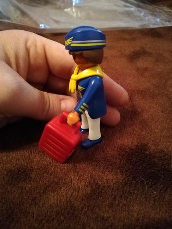 Playmobil pani z walizką stewardesa z samolotu