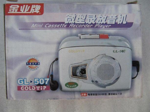 Кассетный плеер Goldyip GL-507,запись, динамик, автостоп, новый