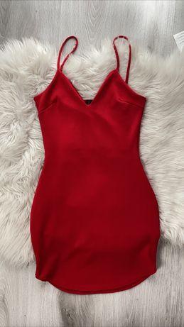 Sukienka missguided czerwona xs s