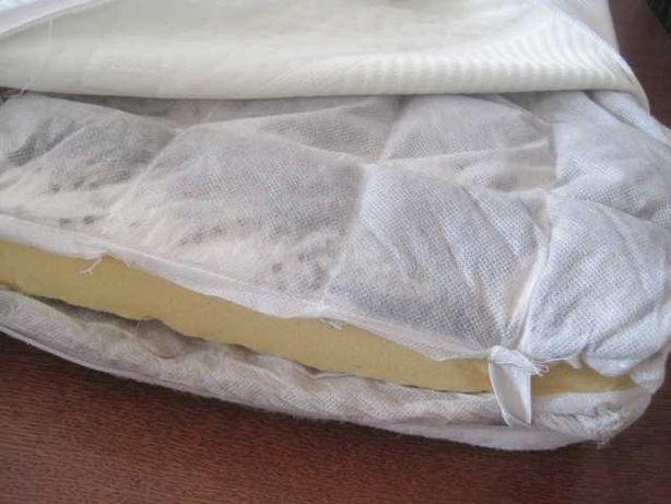materac poduszka rehabilitacyjna 42x88 gąbka z trawą gryką DUNLOPILLO