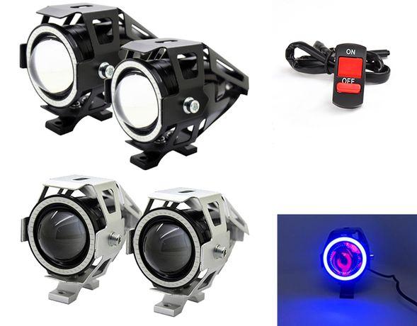 Halogeny motocyklowe RINGI RING soczewkowe reflektory lightbar led bmw