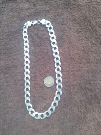 Łańcuch pełny srebro 925 13mm 126 gram 53cm pancerka