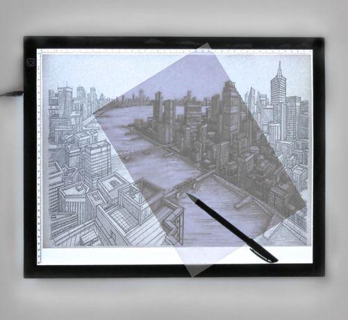 Mesa A3 LED Fina Regulável Luz USB Desenho Ilustração stencil a4 a2 a5