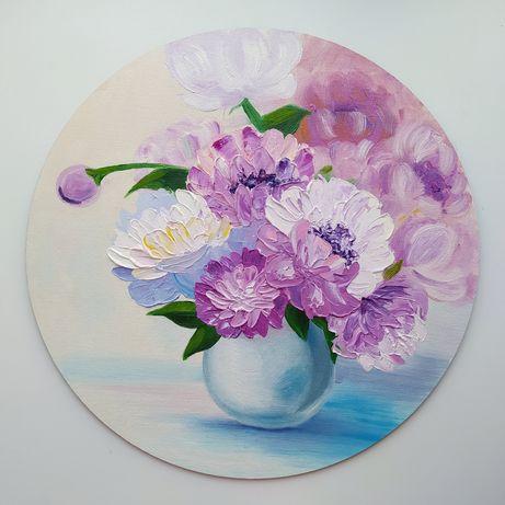 Картина маслом цветы. Картины на заказ. Подарок маме, бабушке