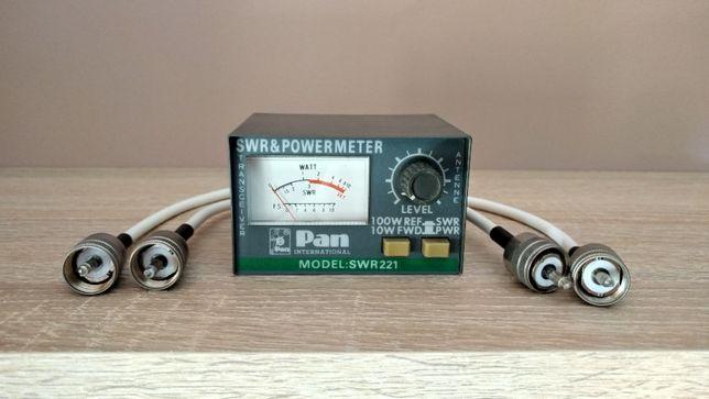 Miernik SWR & PowerMeter model SWR221 Pan International z okablowaniem