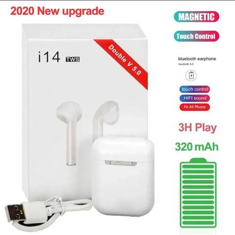 Беспроводные Bluetooth наушники i14 TWS белые