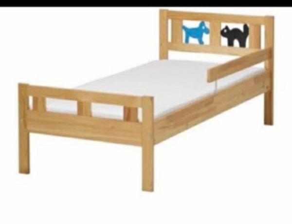 Łóżko dziecięce drewniane ikea kritter 160x70 cm