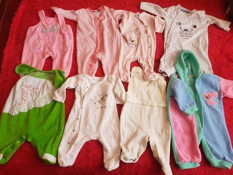 Zestaw ubrań dla niemowlaka body pajacyk 62 cm paka wyprawka noworodka